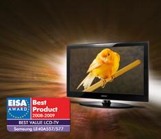 Samsung LE40A557 EISA award